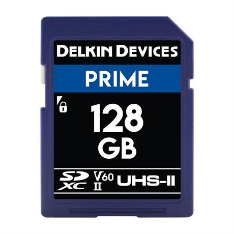 Delkin 128GB SDXC UHS-II Prime 1900x V60 thumbnail