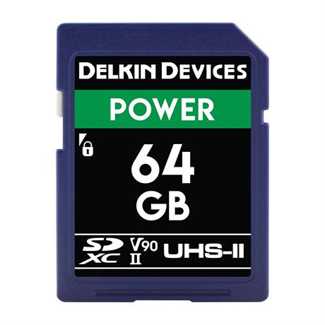 Delkin 64GB SDHC UHS-II Power 2000X V90 thumbnail