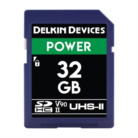 Delkin 32GB SDHC UHS-II Power 2000X V90 thumbnail