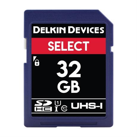 Delkin 32GB SDHC UHS-1 Select 163x V10 thumbnail