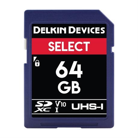 Delkin 64GB SDXC UHS-I Select 266x V10 thumbnail