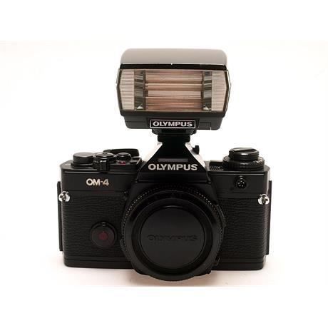 Olympus OM4 Body + T20 Flash - Black thumbnail