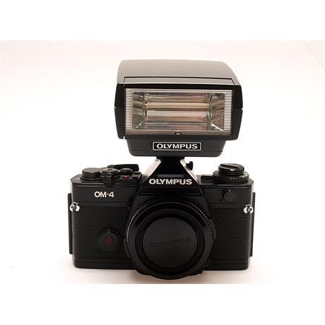 Olympus OM4 Body + T32 Flash - Black thumbnail