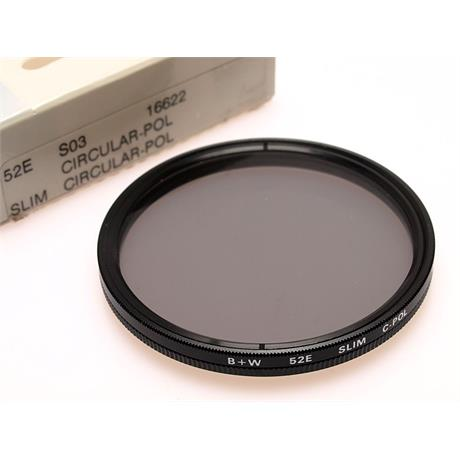 B+W 52mm Circular Polariser - Slim Mounted thumbnail
