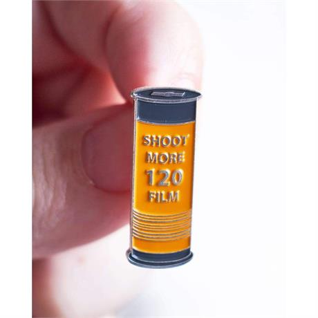 Offcial Exclusive Shoot more 120 Film - Pin Badge thumbnail
