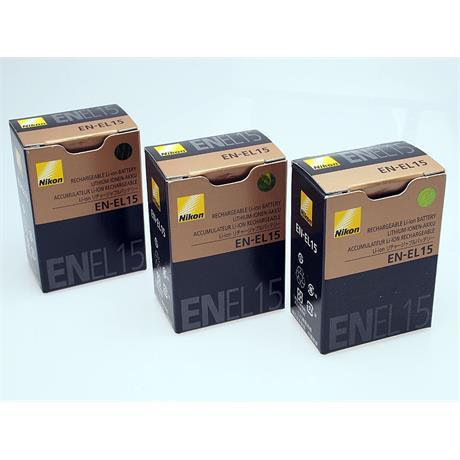 Nikon 3x EN-EL15 Batteries thumbnail