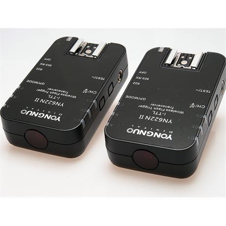 Yongnuo 2x YN622N-II Wireless Flash Triggers - Nikon AF thumbnail