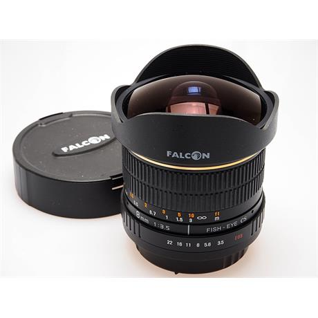 Falcon Eyes 8mm F3.5 Aspherical AE IF MC Fish-Eye -  thumbnail
