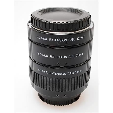 Kooka AF Extension Tube Set - Nikon AF thumbnail