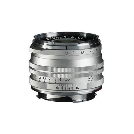 Voigtlander 50mm F1.5 II VM Asph Nokton MC - Vintage Line Silver thumbnail