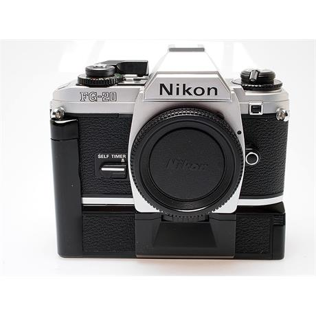 Nikon FG20 Body Only - Chrome thumbnail