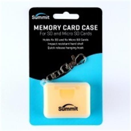 Summit Memory Card Case for SD & MICRO-SD Cards - Yellow thumbnail