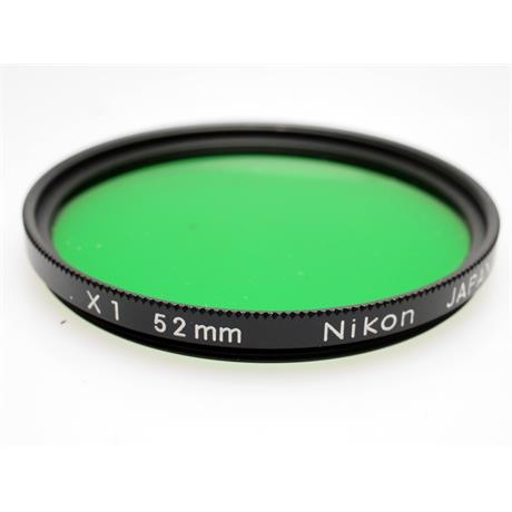 Nikon 52mm Green X1 thumbnail