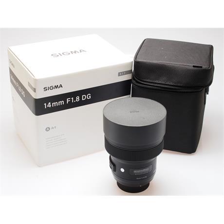 Sigma 14mm F1.8 DG HSM Art - Nikon AF thumbnail