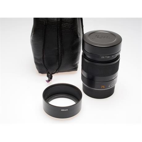 Leica 75mm F2.5 M Black 6bit + Hood thumbnail