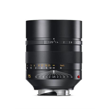 Leica 75mm F1.25 Asph Noctilux M - Black thumbnail