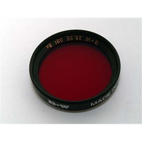 B+W 28.5mm Dark Red (091) - Single Coated _ SALE thumbnail