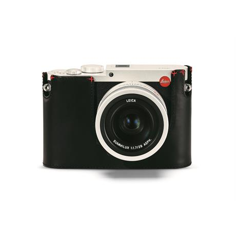 Leica Protector for Q (Typ116) - Black with Red Handstitch 19539   thumbnail