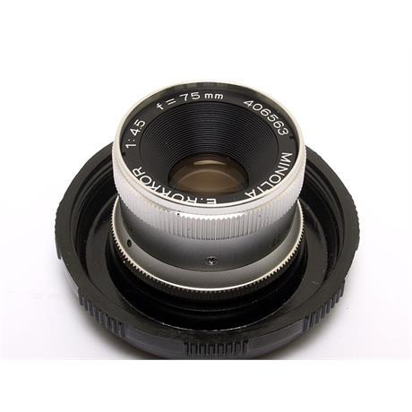 Minolta 75mm F4.5 E Rokkor thumbnail