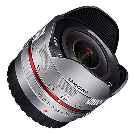 Samyang 7.5mm F3.5 UMC Fish-Eye Silver - Micro 4/3rds thumbnail