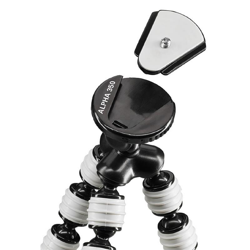 Cullmann Alpha 350 Flexible Mini Tripod - Grey (Micro System) Thumbnail Image 1