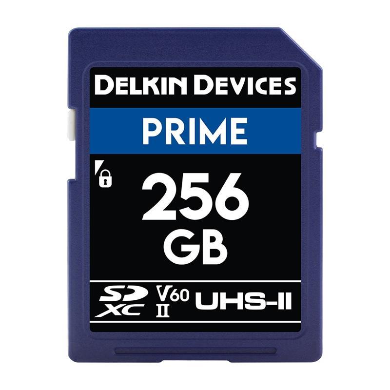 Delkin 256GB SDXC UHS-II Prime 1900x V60 Image 1