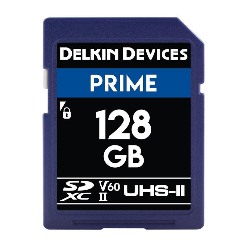 Delkin 128GB SDXC UHS-II Prime 1900x V60 Image 1