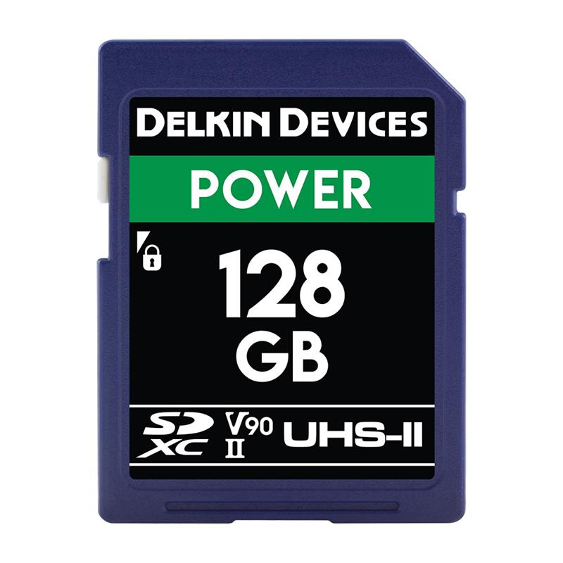 Delkin 128GB SDHC UHS-II Power 2000X V90 Image 1