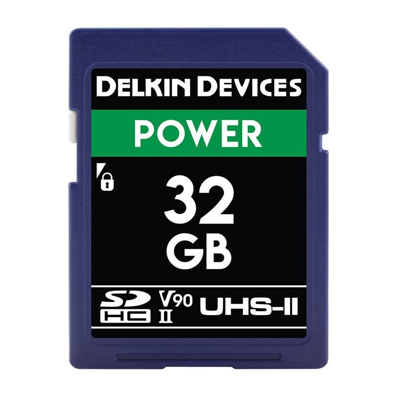 Delkin 32GB SDHC UHS-II Power 2000X V90 Image 1