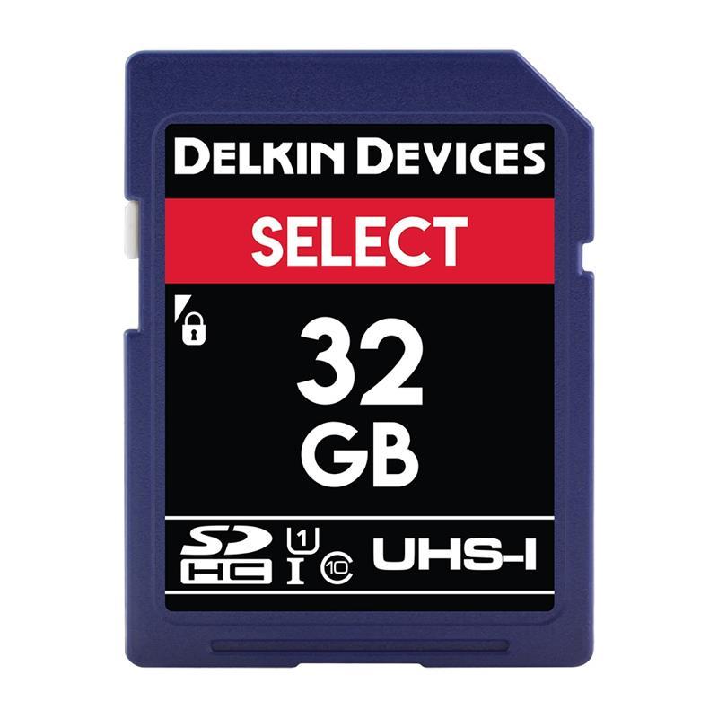 Delkin 32GB SDHC UHS-1 Select 163x V10 Image 1