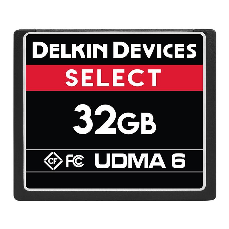 Delkin 32GB CF UDMA 6 Select 500x Image 1