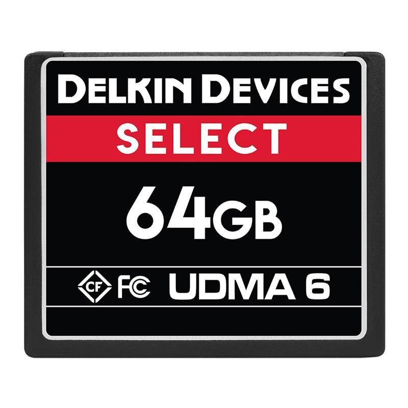 Delkin 64GB CF UDMA 6 Select 500x Image 1