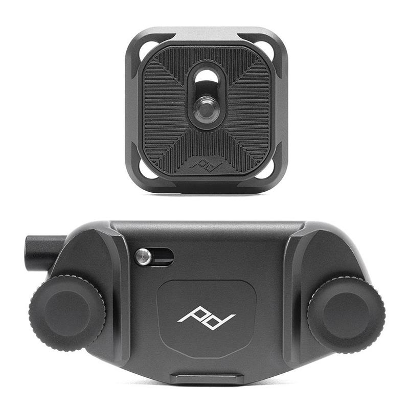 Peak Design Camera Clip V3 + Standard Plate - Black Image 1