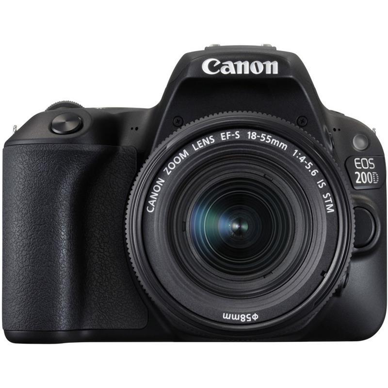 Canon EOS 200D + 18-55mm IS STM - Black Thumbnail Image 0