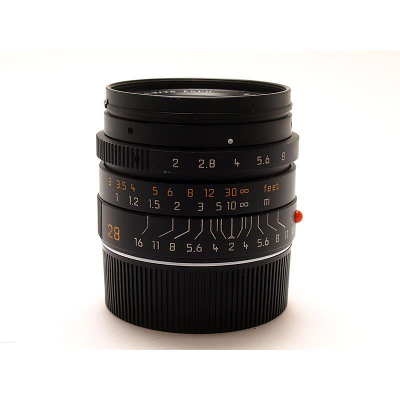 Leica 28mm F2 Asph M Black 6bit Thumbnail Image 0