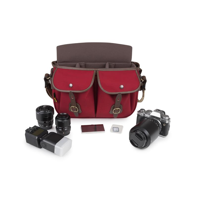 Billingham Hadley Pro 2020 - Burgundy Canvas / Chocolate Leather Thumbnail Image 1