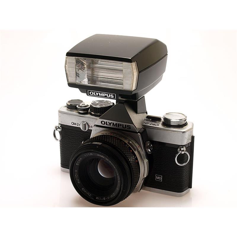 Olympus OM2N Chrome + 50mm F1.8 + T20 flash Thumbnail Image 0