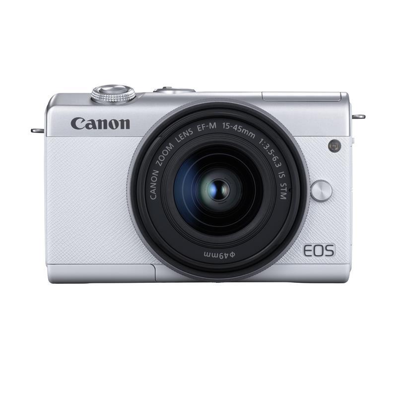 Canon EOS M200 + 15-45mm - White \ Silver Thumbnail Image 0