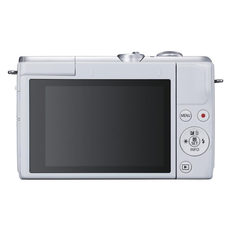 Canon EOS M200 + 15-45mm - White \ Silver Thumbnail Image 1