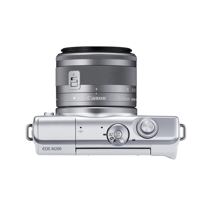Canon EOS M200 + 15-45mm - White \ Silver Thumbnail Image 2