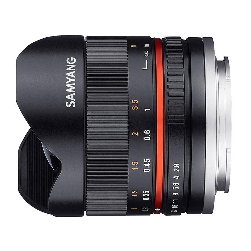 Samyang 8mm F2.8 UMC Fisheye II Black - Sony E Image 1