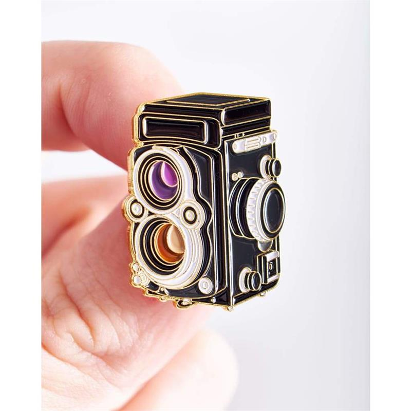 Offcial Exclusive Roleiflex Twin Lens - Pin Badge Image 1