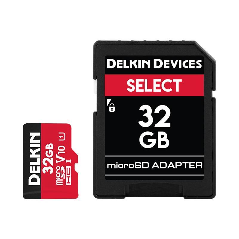 Delkin 32GB microSDHC UHS-1 Select 500x V10 Thumbnail Image 1