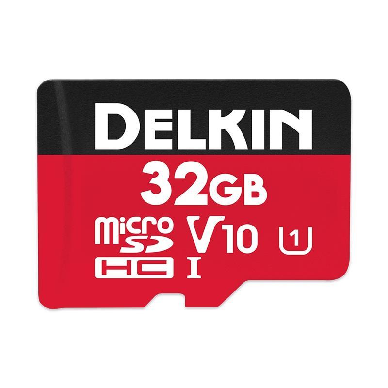 Delkin 32GB microSDHC UHS-1 Select 500x V10 Thumbnail Image 0