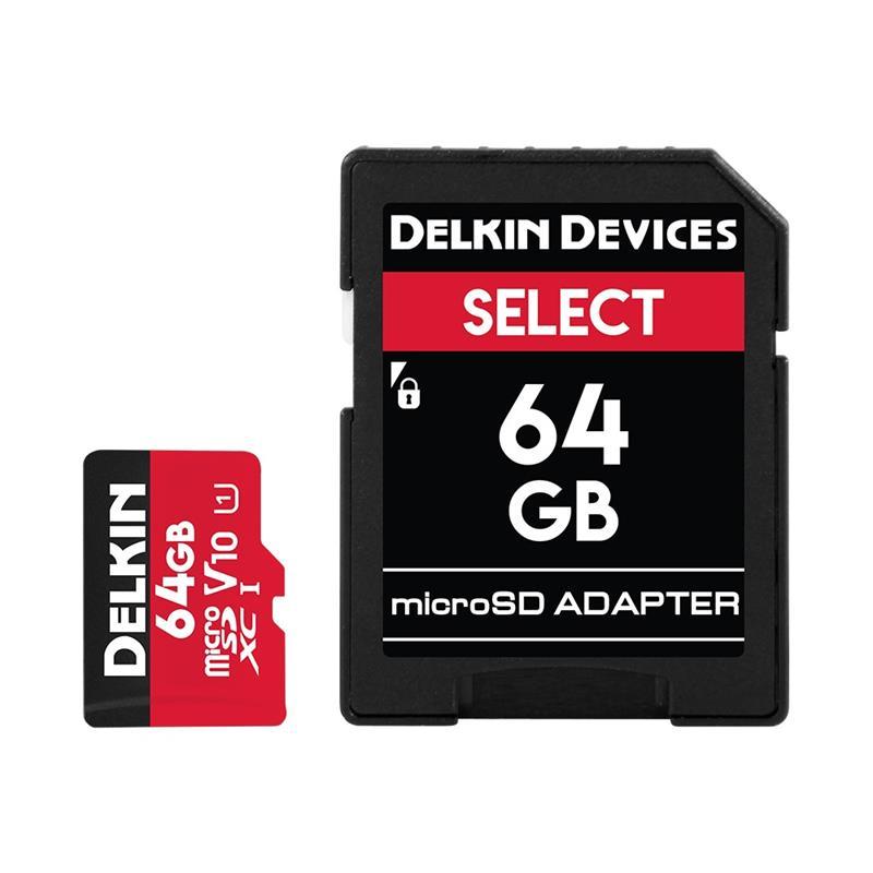 Delkin 64GB microSDHC UHS-1 Select 500x V10 Thumbnail Image 1