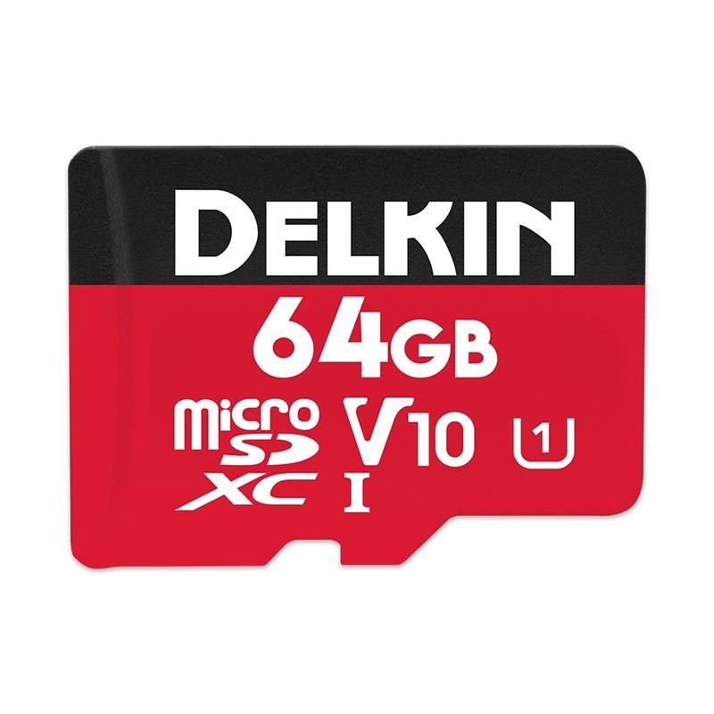 Delkin 64GB microSDHC UHS-1 Select 500x V10 Thumbnail Image 0