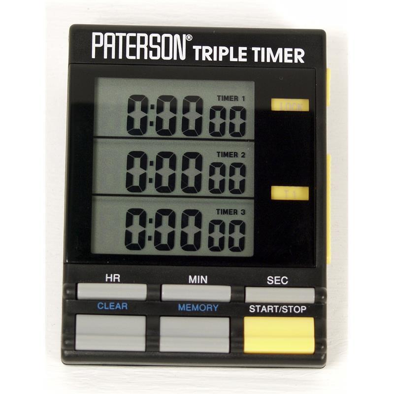 Paterson Triple Timer Clock Image 1