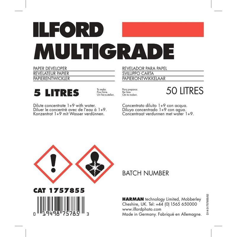Ilford Multigrade Developer 5Ltr WLD Thumbnail Image 1