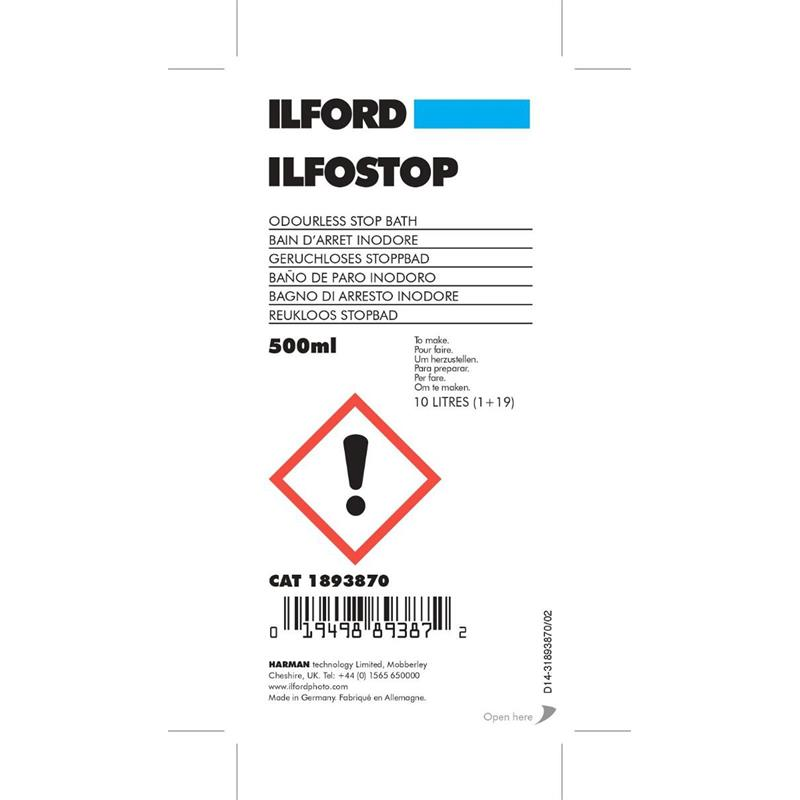 Ilford Ilfostop 500ml WLD Thumbnail Image 1