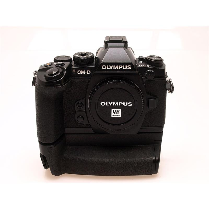 Olympus E-M1 Black Body + HLD-7 Grip Image 1